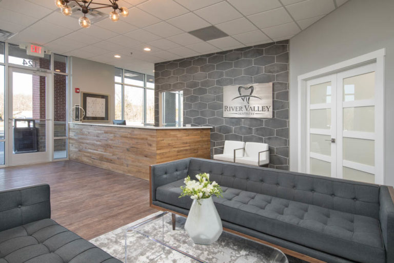 The front lobby at River Valley Dentistry